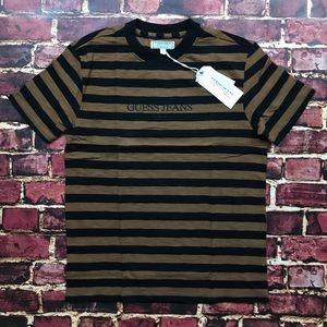 6ba2d1e40121 Guess by Marciano Shirts - GUESS Striped Tee 1981 USA ASAP Brown Black Shirt